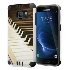 Hybrid Dual Layer Armor Case for Samsung Galaxy S7 - Vintage Piano