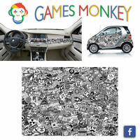 Pellicola Car Wrapping Adesiva 70x50 cm - STICKER BOMB 06 - Vinile PVC Lucido HD