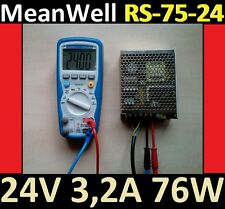 MW 24 V MeanWell 76 W rs75 24 Reprap CNC DEL imprimante bloc d'Alimentation Power Supply qswitch
