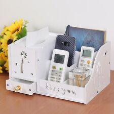 DIY Wood Desk Organizers Office Home Cosmetics Tissue Holder Desktop Storage Box