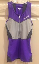 New 2Xu Women's G:2 Compression Tri Singlet Purple & Gray Size Xs (Nwt)