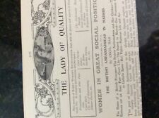 m10-9c ephemera 1905 article british ambassadress in madrid