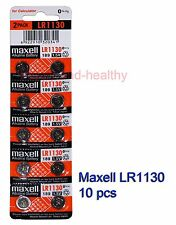 Maxell  LR1130 (189 AG10) 0% Hg Alkaline watch Battery x 10 pcs FREE post