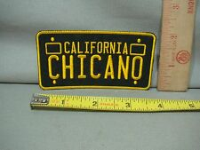vintage style license plate iron on patch California Chicano  jacket hat shirt