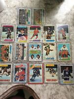 Lot Of 17 cards1970's Topps Hockey Cards. 1 1988-99 Patrick Roy