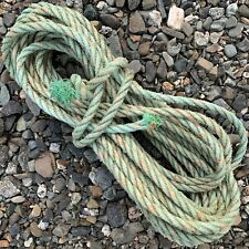 42' Green Weathered MAINE Boat Lobster Trap Buoy ROPE Nautical Decor Recycle