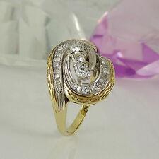 Ringe im Cluster-Stil aus mehrfarbigem Gold mit SI Reinheit