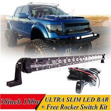 38INCH 180W LED WORK LIGHT BAR SPOT SLIM LIGHT OFFROAD LAMP FOR UTE ATV 4WD 40''