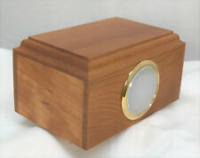 Small cherry wood pet cremation picture urn