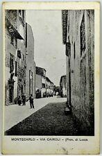 Cartolina Formato Piccolo - Montecarlo (Lucca) - Via Cairoli Viaggiata