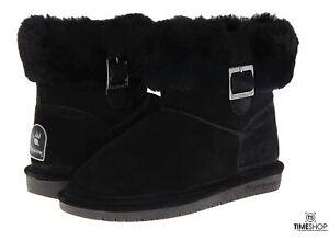 BEARPAW Womens Abby Snow Boot Black - Size 6 - 1257W-001-M060 - Damaged Box