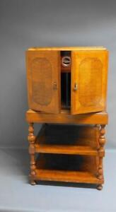 Art Deco Free-Standing Walnut Smokers Cabinet