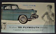 1955 Plymouth Catalog Sales Brochure Belvedere Plaza Savoy Nice Original 55