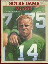 College Football Program Notre Dame 1984 Miami