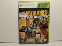 Borderlands Game of the Year Edition Xbox 360 Game - Complete w/ Poster - CLEAN