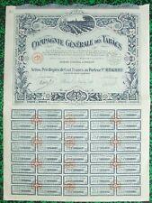 Paris - Superbe Déco Compagnie Générale des Tabacs du 15/10/1927 A Voir !!!!!!!!