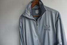 Rare Adidas Chile 62' Tracksuit jacket S silver trefoil wetlook Originals bomber