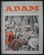 Men's Fashion Art Deco Magazine Adam La Revue de L'Hommes 01/15/1935