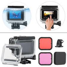For GoPro Hero6 5 Black Underwater Waterproof Dive Housing+2x Lens Filter Kit