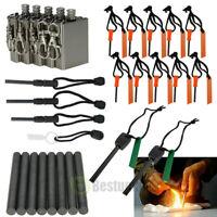 Ferrocerium Flint Fire Starter Survival Magnesium Rod kit lighter Emergency Tool
