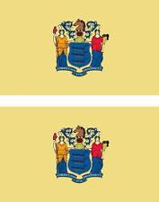 2x Adhesivo pegatina sticker bandera estados unidos americana usa nueva jersey