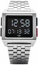 Adidas Herren-Armbanduhr Digital Edelstahl Mineralglas Wasserfest Schwarz/Silber