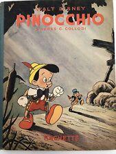 Ancien Livre Pinocchio 1940 Walt Disney Hachette