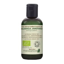 Naissance Unrefined Moringa Oil 100ml Certified Organic 100%25 Pure
