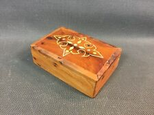 Antique Small Box Jewelry Wooden Thuya Vintage Art of Maghreb