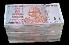 500 x Zimbabwe 5 Billion Dollar bank notes -5 bundles