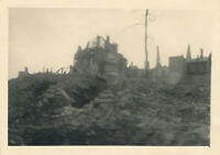 WWII 1945 414th ORD EVAC CO GI's Coogne Germany bombed buildings