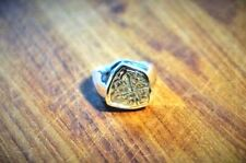 ATOCHA Coin Ring Mens 14K White Gold Sunken Treasure Shipwreck Coin Jewelry