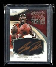 Dominique Wilkins Immaculate HALL OF FAME HEROES Auto #/49! GOLD INK! Hawks! HOF