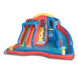 Banzai Hydro Blast Inflatable Kiddie Water Park w/ Slides & Water Cannons (Used)