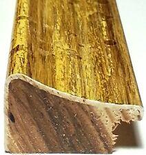 19 ft - Larson Juhl GOLD Picture Frame Molding, Brushed Gold, Handmade In France