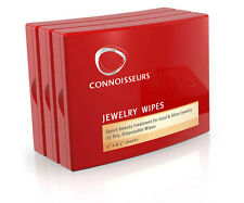 3x Connoisseurs Jewelry Cleaning 75 Wipes w/Case - for Gold, Silver, Gemstones.