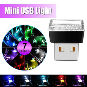7-Colors Mini USB LED Atmosphere Lamp Car Interior Decoration Light Accessories