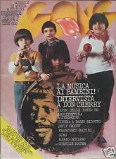 GONG MENSILE MUSICA CULTURA PROGRESSIVA APRILE 1976 DON CHERRY MAPPA RADIO FM
