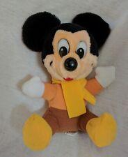 "Mickey's Christmas Carol Vintage Plush Stuffed Animal Mickey Mouse 7"" Toy Disney"