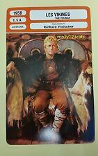 US Adventure Movie The Vikings Kirk Douglas Tony Curtis French Film Trade Card