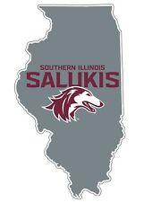 Southern Illinois Salukis Siu Vinyl Decal-Ncaa State Shaped Sticker