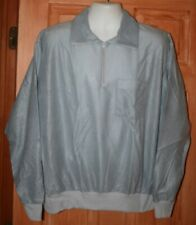 NEW Vintage J. BLAIR ACETATE NYLON PULLOVER SHIRT 2XL ZIP POLO USA BLUE-GRAY