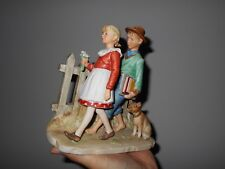 "Norman Rockwell ""Fall-A Scholarly Place"" Figurine by Gorham Japan"