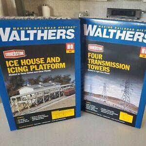 2-Building Kit HO - Walthers Cornerstone #933-3049  9333121 Ice House