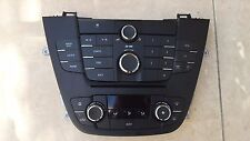 OPEL VAUXHALL INSIGNIA RADIO CD400 WITH CLIMA CONTROL 13321292/13273095