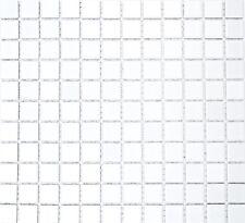 Mosaico ceramica bianco lucido tegola per muro e suolo: 18-0102_b | 1 foglio
