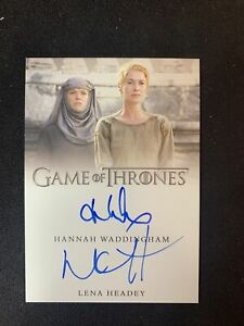 2020 Game of Thrones Complete HANNAH WADDINGHAM & LENA HEADEY Autograph Card