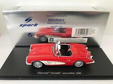 1:43 Spark 1960 Chevrolet Corvette C1 Convertible (Red)