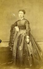 Woman Standing Paris Early Studio Photo Dupuy Old CDV 1860