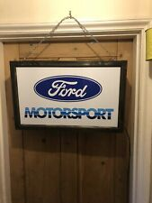 More details for illuminated sign ford motorsport rs turbo cosworth sierra escort fiesta